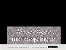 Tablet Preview of mattixstylingtheworld.blogg.se